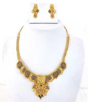 Gold Stylish  Necklace Set