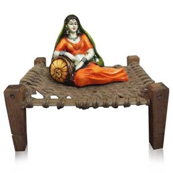 Maharani Lady on Cot