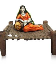 Buy Maharani Lady on Cot sculpture online