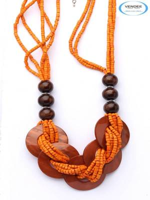 Wooden necklace jewelry