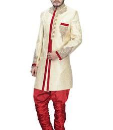 Buy gold silk stone sherwani jodhpuri-sherwani online