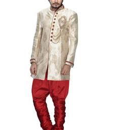 Buy silver silk stone sherwani jodhpuri-sherwani online