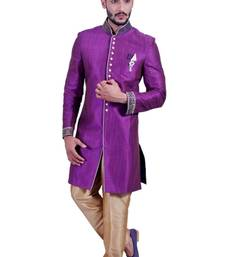 Buy dark lavender fancy fabric indo western dresses indo-western-dress online