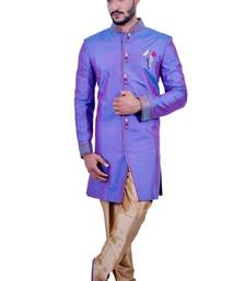 Buy amethyst fancy fabric Jodhpuri Sherwani wedding-sherwani online