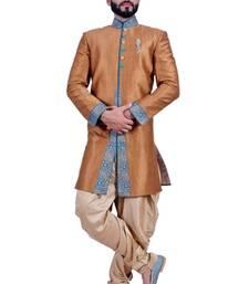 Buy sienna brown fancy fabric resham indo western dresses indo-western-dress online