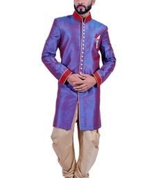Buy blueberry art dupion silk indo western dresses indo-western-dress online