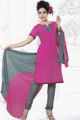 Dress Material Crepe Unstitched Elegant Salwar Kameez Suit D.No 7412