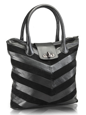 """Phive Rivers-Aimi, Genuine Leather Women Tote Bag with colour : """"Black"""""""