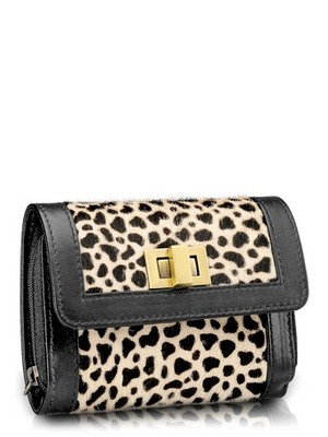 "Phive Rivers-Cher, Genuine Leather Women Wallet with colour : ""Black/white"""
