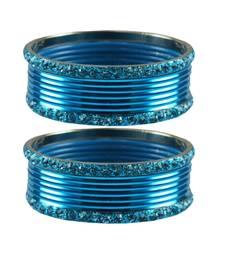 Buy Firozi stone Brass Bangle bangles-and-bracelet online
