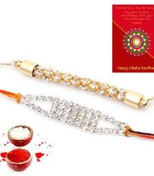 Buy Exclusive Handcrafted Rakhi Pair Gift For Brothers bhaiya-bhabhi-rakhi online
