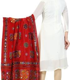 Buy Reddish pink cotton stole and dupattas stole-and-dupatta online