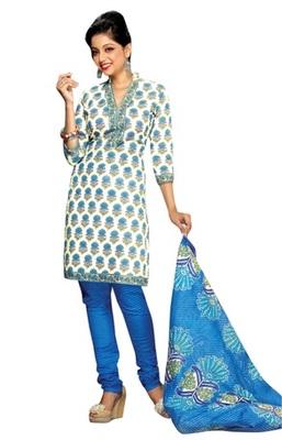 Triveni Trendy Floral Motif Casual Wear Salwar Kameez TSMUVRSK7004