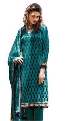 Triveni Sparkling Leaf Motif Printed Salwar Kameez TSFLSK6377a