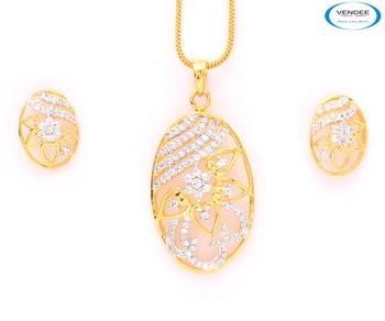 Designer CZ diamond pendant jewelry