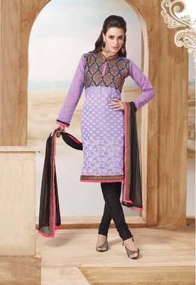 Chanderi Cotton Unstitched Suit