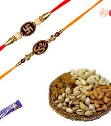 Buy Set of 02 divine rakhis with dryfruits divine-rakhi online
