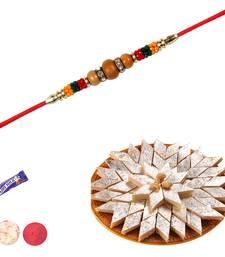 Buy Sandalwood rakhi with kaju katali sandalwood-rakhi online