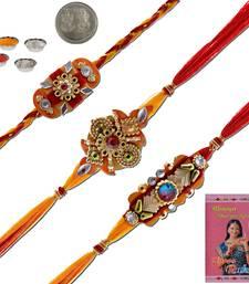 Buy Handcrafted  ethnic design thread rakhi gift thread-rakhi online
