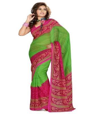 Dealtz Fashion Multicolor Geogette Saree