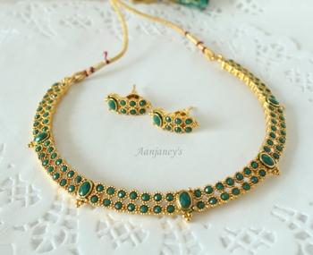Designer Sets Traditional Trendy Necklace Chokar Earrings Studs Ethnic Indian Handmade Antique Stone
