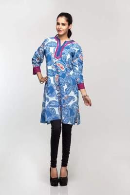 Avishi Blue Printed Kurta