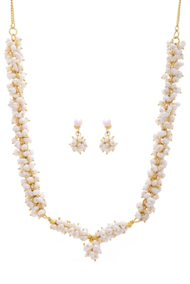 REAL PEARLS NECKLACE SET FROM HYDERABAD(LOOSER PENDANT SET)