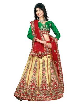Triveni Gorgeous Embroidered Wedding Lehenga saree TS91001b