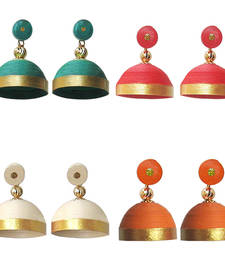 Buy Combo pack of four elegant quilled jhumkas jhumka online