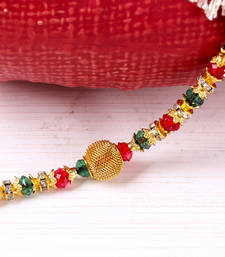 Buy Colorful beads rakhi thread thread-rakhi online
