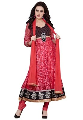 Triveni Beautiful Net Brasso Readymade Salwar Kameez TSSTSK101
