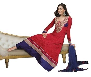 Triveni Splendid Party Wear Embroidered Maroon Color Indian Ethnic Salwar Kameez TSXAVSK107
