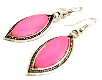 Craftstages Pink Casual Earrings