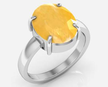 Pukhraj 8.3 cts or 9.25 ratti Yellow Sapphire Ring