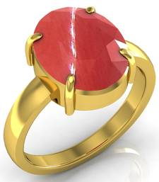 Buy Moonga 3.0 cts or 3.25 ratti Coral Moonga Ring gemstone-ring online