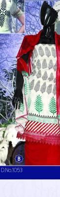 Spun Cotton Lacer Salwar Kameez Churidar Dress Meterial SC1053B