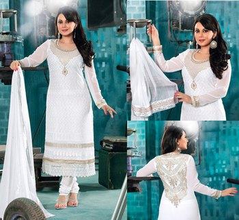 Hypnotex White Georgette Anarkali Salwar Kameez Aayu 1706