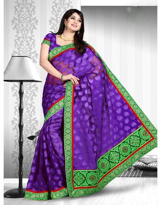 Dealtz Fashion Banarasi Butta Jacquard Saree With Dupion Contrast Blouse With Banarsi Brokade Short Pallu And Lace