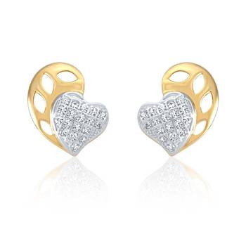 Mahi  Gold Plated Great Glam Earrings with CZ Stones