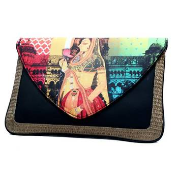 Craftstages Leather & Jute Ethnic Bag