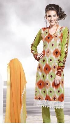 Cotton Embellished Salwar kameez Dress Material SC8131C