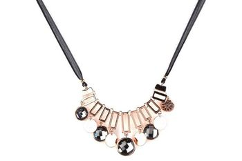 GOLD  METAL Thread Chain + Metal Recthng + big Colourful Stones - By Dealtz Fashion