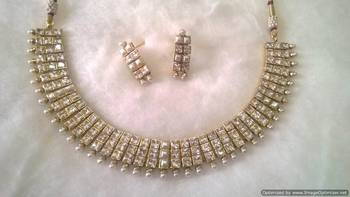 Polki Stones And Pearls Set