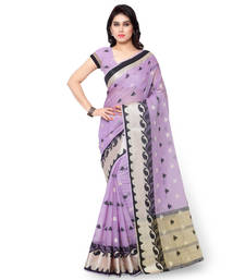 Buy lavender woven chanderi_silk saree With Blouse chanderi-saree online