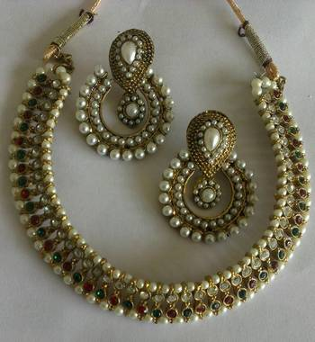 Designer Earings with Traditional Necklace