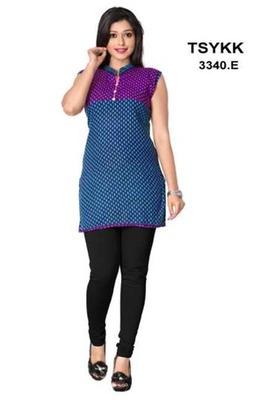 Triveni Fancy waist length cotton printed Kurti 3340e