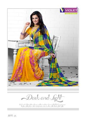 Monica Bedi In Yellow Saree