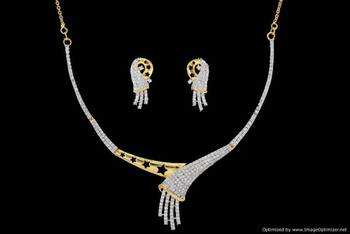 AD STONE STUDDED ELEGANT NECKLACE SET (AD)  - PCADN10011