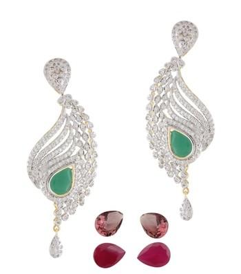 Glittering Curvy CZ Earrings