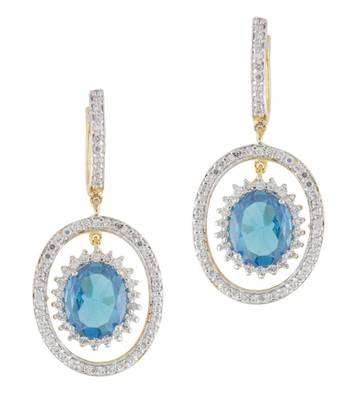 CZ Blue Ocean Earrings